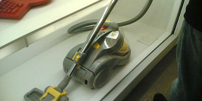 A Dyson vacuum cleaner