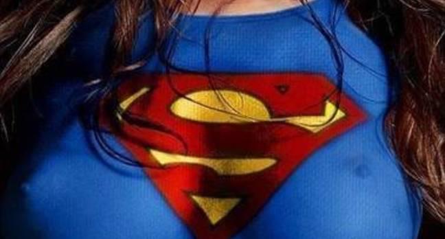 Superwoman Logo on Chest