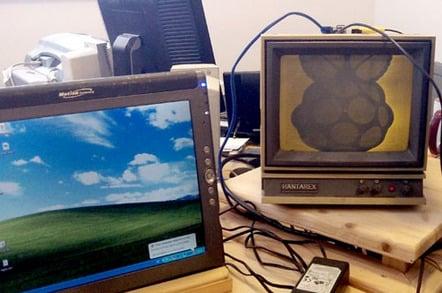 Tablet PC and Hantarex CRT monitor