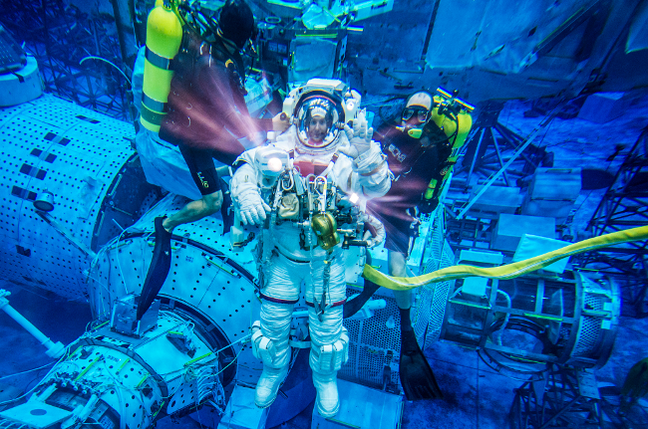 Thomas Presquet EVA training with NASA photo ESA