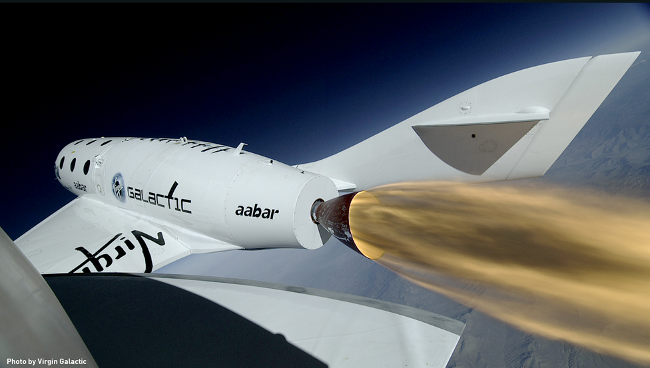 Virgin Galactic SpaceShipTwo rocket test