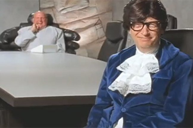 Bill Gates as Austin Powers