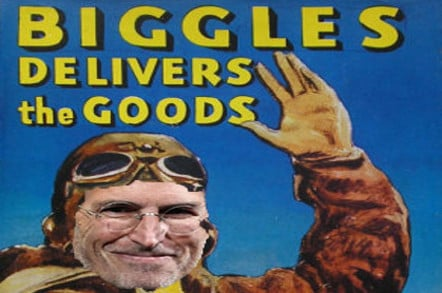 Steve Jobs, intrepid stiff-upper-lipped British aviator