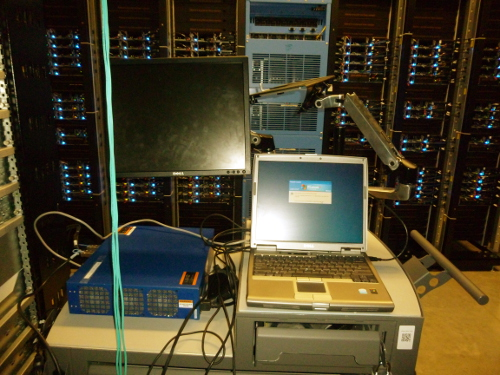 A Windows XP machine in a Facebook data center