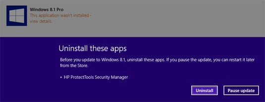 Windows 8.1 update uninstal apps