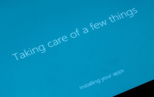 Windows 8.1 update setting up a few more things