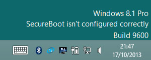 Windows 8.1 update secure boot