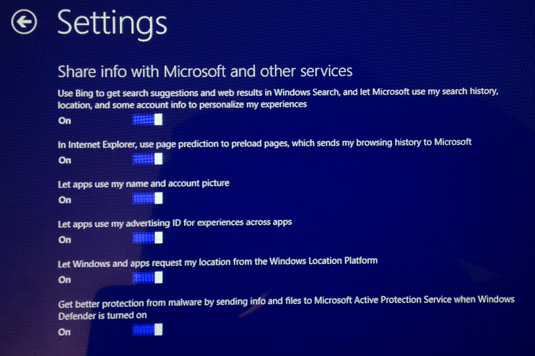 Windows 8.1 update custom settings