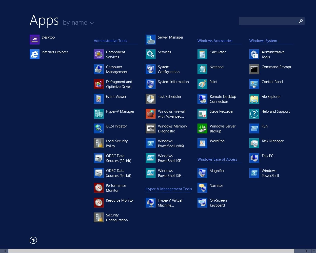 Windows Server 2012 R2 Start Menu 2