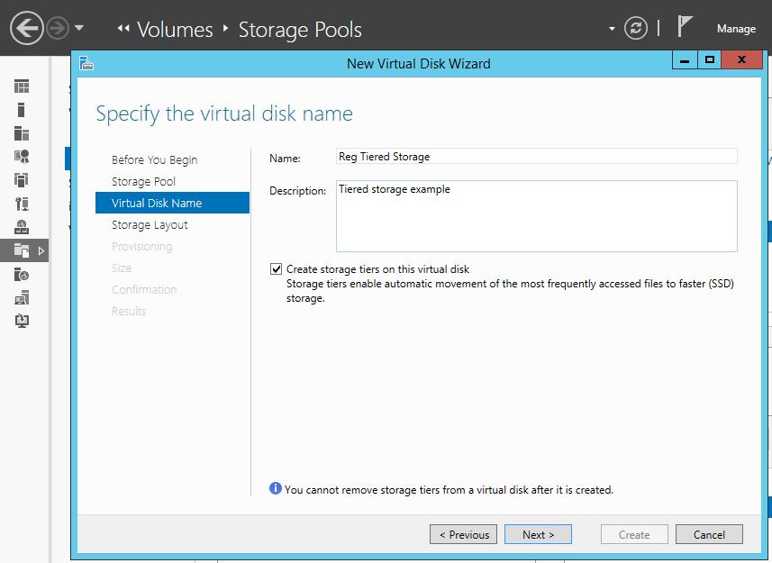 Windows Server 2012 R2 tiered storage