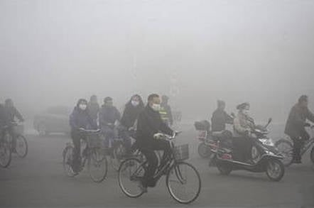 Air pollution in Harbin, Heilongjiang province, northeastern China, in October 2013