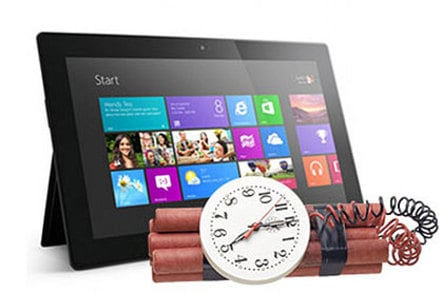 Microsoft Surface bomb