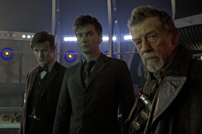 Three Doctors, photo copyright BBC