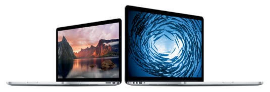 Apple's 13-inch and 15-inch MacBook Pros as announced on October 22, 2013