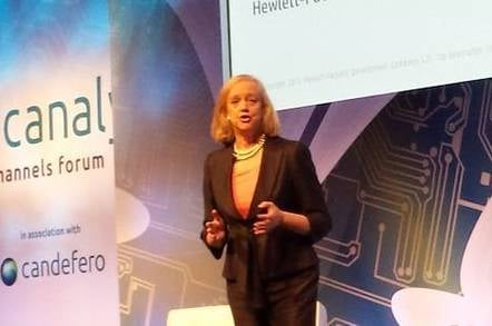 Meg Whitman at the Canalys Channels Forum