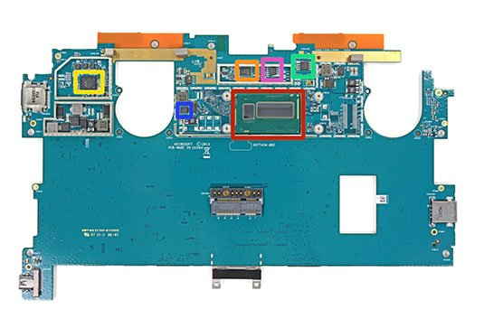 Surface Pro 2 motherboard, with CPU