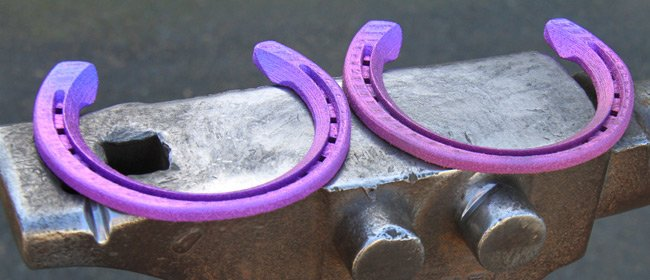 The titanium horseshoes. Pic: CSIRO