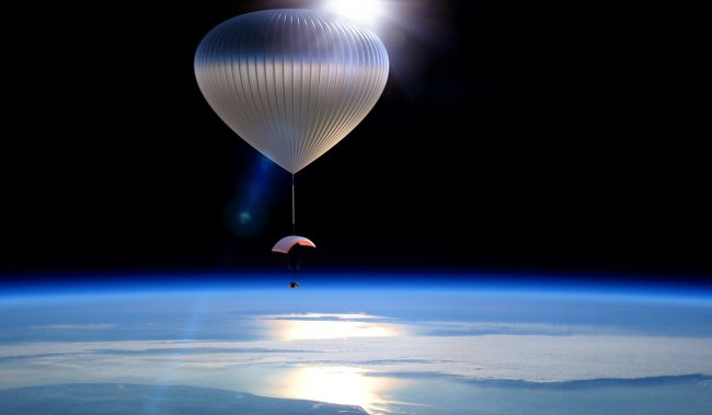 World View's balloon in space