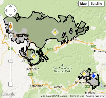Bushfire map