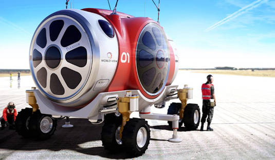 World View Enterprises balloon-gondola space vehicle on Earth