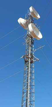 A microwave tower
