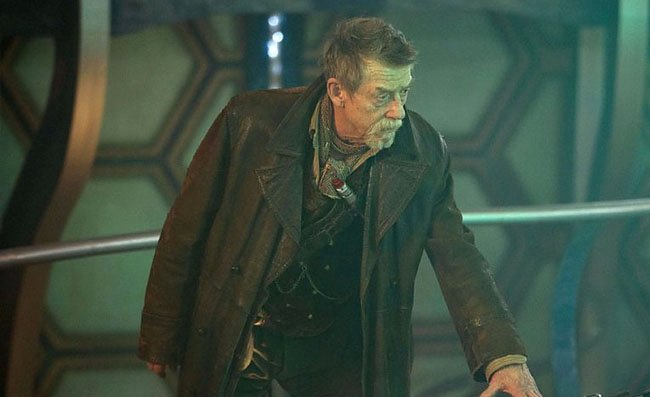 John Hurt as a world-weary Doctor
