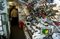 Submarine HMS Ocelot's control room