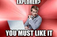 An example of the 'Overly Suave IT Guy' meme