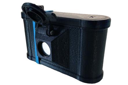 Clint O'Connor's pinhole camera. Pic: Clint O'Connor