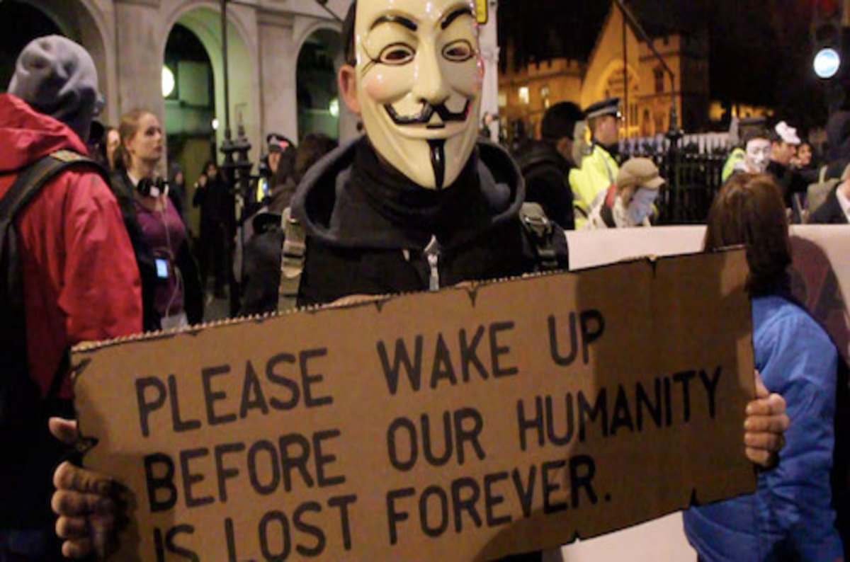 Anonymous Hacktivists Million Mask March Protest Hits