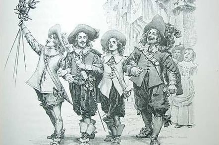 D'Artagnan and the three musketeers