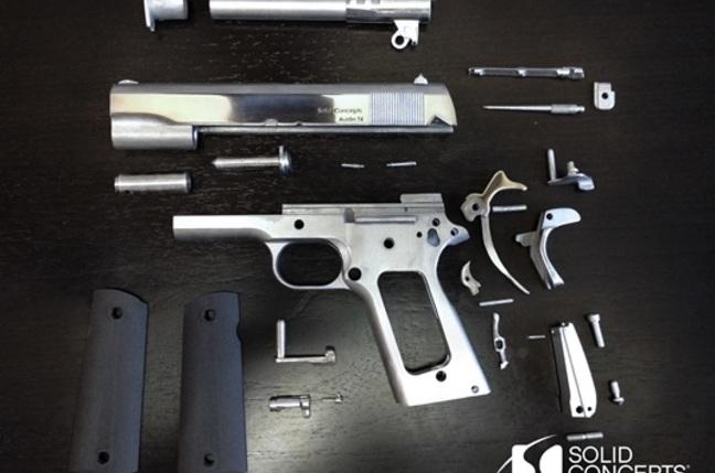 3D metal gun