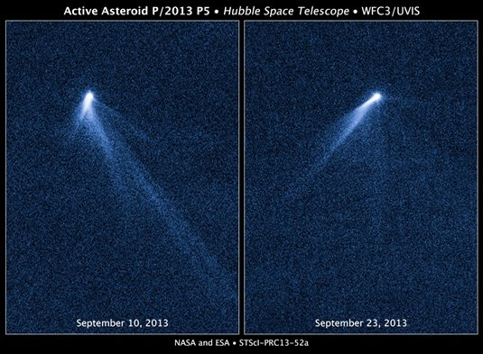 asteroid stream from P/2013 P5. Credit: NASA/ESA