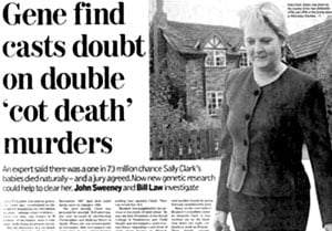 Cot death headline