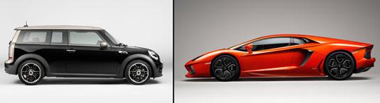 Mini and Lamborghini