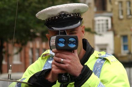 Speed gun cop