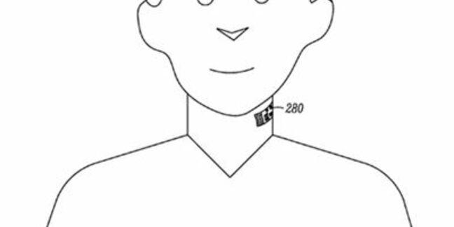 Illustration from Motorola 'Electronic Skin Tattoo' patent application