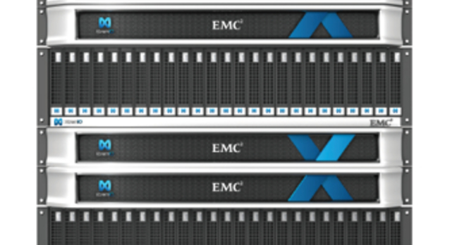 XtremIO array and 4 X-Brick nodes