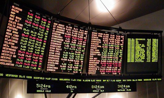Stock ticker board