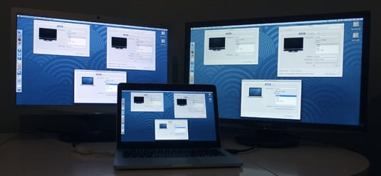 Apple MacBook Pro 13in late 2013 display mirroring with two additional screens