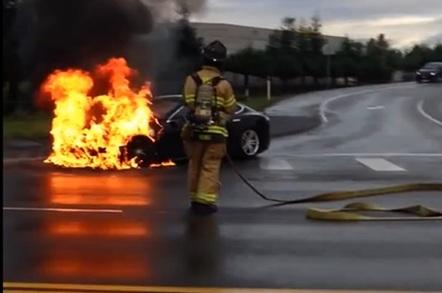 Tesla fire
