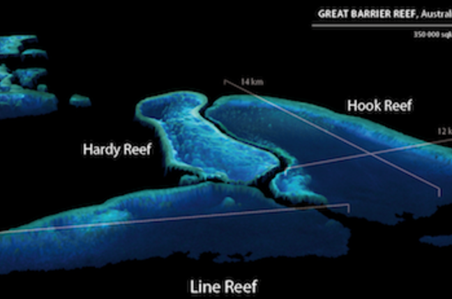 EOMAP's new 3D map of the Great Barrier Reef