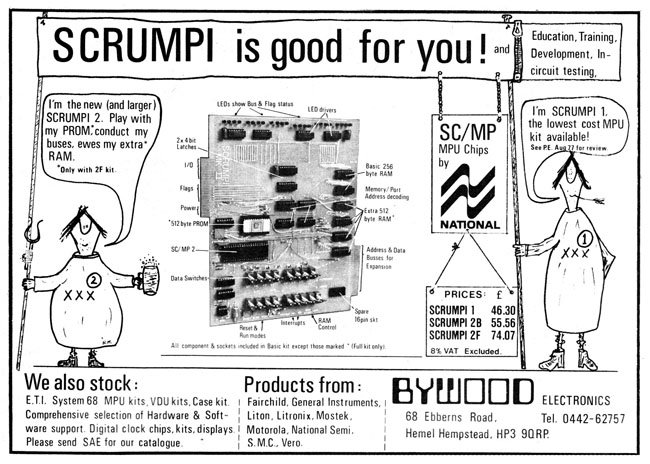 Bywood advertises Scrumpi 2