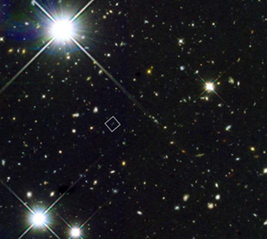 Hubble shot of triple galaxy merger