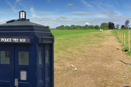 The Tardis in a field