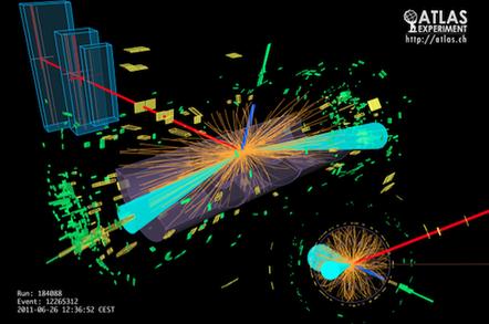 ATLAS illustration of Higgs boson decay