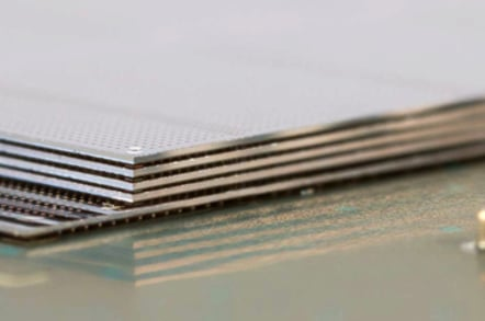Micron HMC chip during manufacture