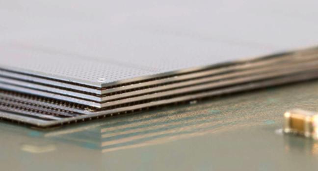 Micron HMC chip during manufacture
