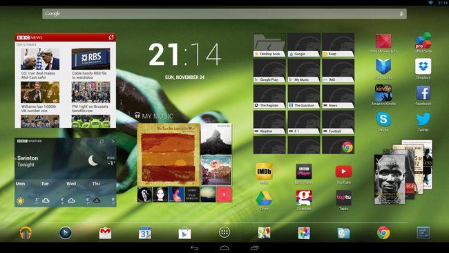 HP Slate 21 home screen