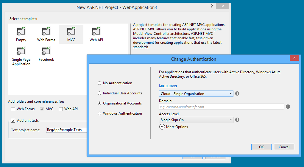 Visual Studio 2013 One ASPNET